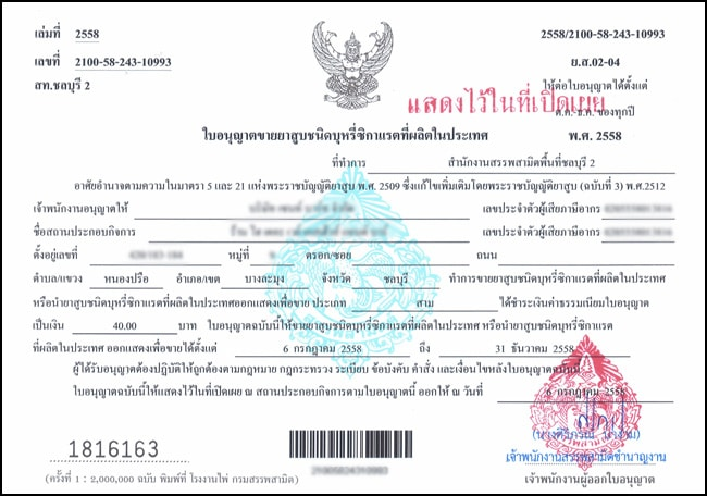 Business Operating Licenses