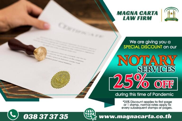 Notary Services from Magna Carta Law Firm Pattaya